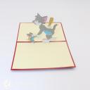 Tom & Jerry Handmade 3D Pop Up Card #3021