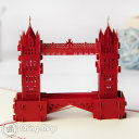 Tower Bridge 3D Pop-Up Greeting Card (Red) 488