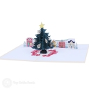 Town Square Christmas Tree 3D Pop-Up Christmas Card #2842
