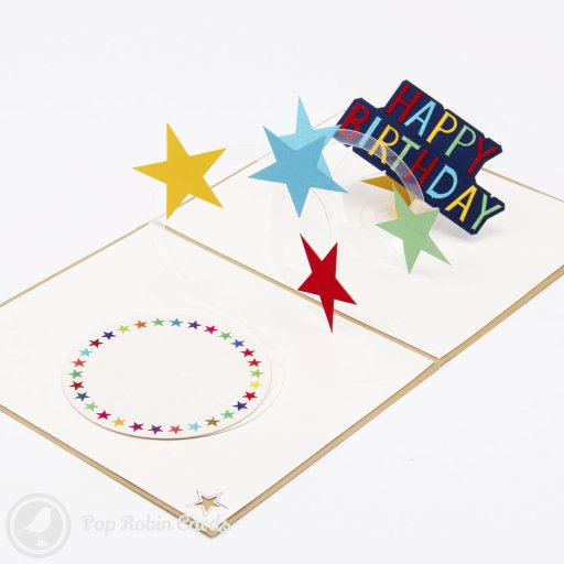 Twinkle Star 3D Pop Up Birthday Greetings Card 1516