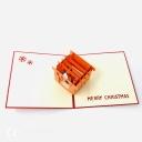 Warm Christmas Hearth 3D Handmade Pop Up Christmas Card #3703