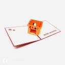 Warm Christmas Hearth 3D Handmade Pop Up Christmas Card #3704