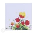 Watercolour Tulips Handmade 3D Pop Up Card #2985