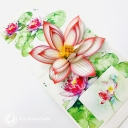 Watercolour Water Lily 3D Pop Up Greetings Card #3647