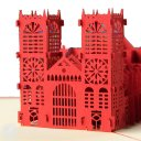 Westminster Abbey 3D Greeting Card (Red) 1595
