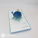 Whale & Bird At Sea Handmade 3D Pop Up Card #3051