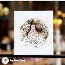 White Christmas Tree Handmade 3D Pop-Up Christmas Card #2345