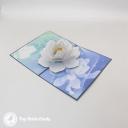White Lotus On Pool 3D Greetings Card #3387