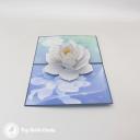 White Lotus On Pool 3D Greetings Card #3390