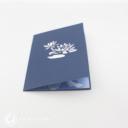 White Lotus On Pool 3D Greetings Card #3391