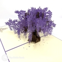 Wide Blossoming Purple Japanese Wisteria Tree #3822