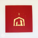 Wise Men In Stable Nativity Scene 3D Pop-Up Christmas Card #2758